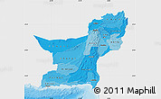 Political Shades Map of Baluchistan, single color outside