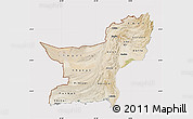 Satellite Map of Baluchistan, cropped outside