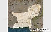 Satellite Map of Baluchistan, darken