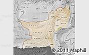 Satellite Map of Baluchistan, desaturated