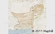 Satellite Map of Baluchistan, lighten