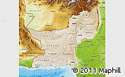 Satellite Map of Baluchistan, physical outside