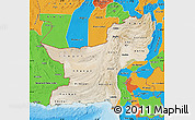 Satellite Map of Baluchistan, political outside