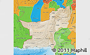 Satellite Map of Baluchistan, political shades outside