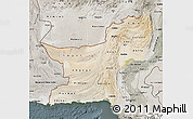 Satellite Map of Baluchistan, semi-desaturated