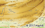 Physical Map of Panjgur