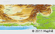 Physical Panoramic Map of Baluchistan