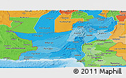 Political Shades Panoramic Map of Baluchistan