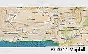 Satellite Panoramic Map of Baluchistan