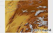 Physical 3D Map of Pishin