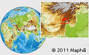 Physical Location Map of Pishin