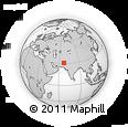 Outline Map of Pishin