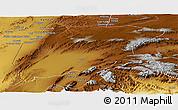 Physical Panoramic Map of Pishin