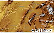Physical 3D Map of Quetta
