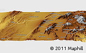 Physical Panoramic Map of Quetta