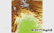 Physical 3D Map of Sibi