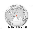 Outline Map of Sibi