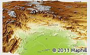 Physical Panoramic Map of Sibi