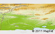 Physical 3D Map of Turbat