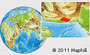 Physical Location Map of Turbat