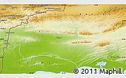 Physical Map of Turbat