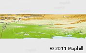 Physical Panoramic Map of Turbat