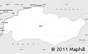 Silver Style Simple Map of Turbat