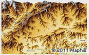 Physical 3D Map of Bajaur