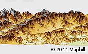 Physical Panoramic Map of Bajaur
