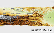 Physical Panoramic Map of Khyber