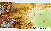 Physical 3D Map of N. Waziristan