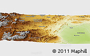 Physical Panoramic Map of N. Waziristan
