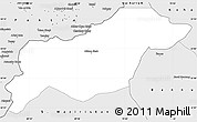 Silver Style Simple Map of N. Waziristan