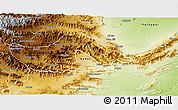 Physical 3D Map of Orakzai
