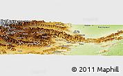 Physical Panoramic Map of Orakzai