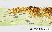 Physical Panoramic Map of Islamabad