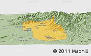 Savanna Style Panoramic Map of F.C.T.