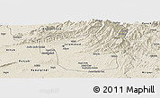 Shaded Relief Panoramic Map of F.C.T.