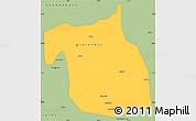 Savanna Style Simple Map of F.C.T.