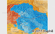 Political Shades 3D Map of Jammu and Kashmir