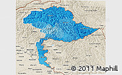 Political Shades 3D Map of Jammu and Kashmir, shaded relief outside