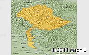 Savanna Style 3D Map of Jammu and Kashmir