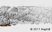 Physical Panoramic Map of Baramula (Kashmir North)