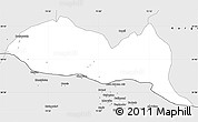 Silver Style Simple Map of Baramula (Kashmir North)