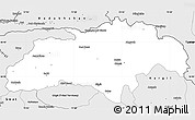 Silver Style Simple Map of Gilgit