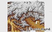 Physical 3D Map of Kupwara (Muzaffarabad)