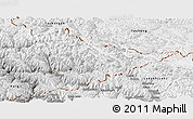 Physical Panoramic Map of Ladakh (Leh)