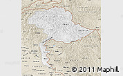 Classic Style Map of Jammu and Kashmir