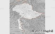 Gray Map of Jammu and Kashmir