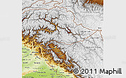 Physical Map of Jammu and Kashmir